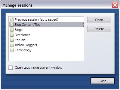 manage opera session
